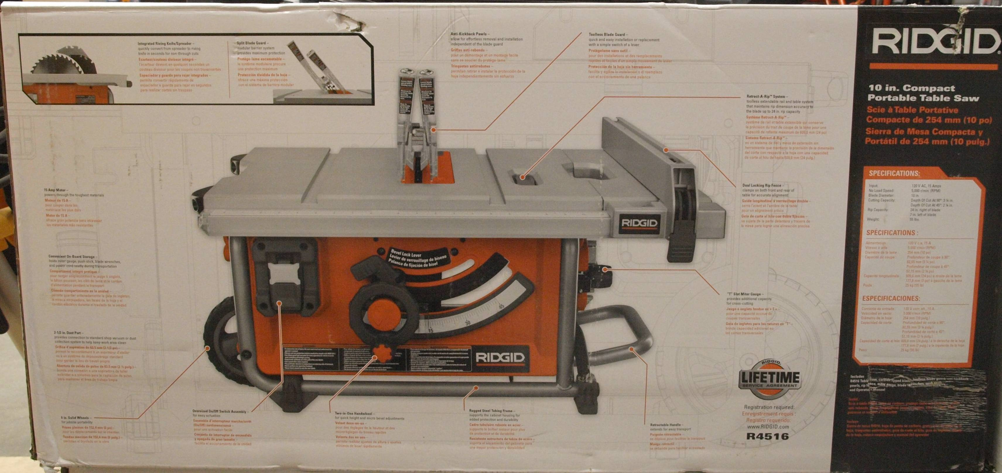 New compact table saw ridgid plumbing woodworking and power tool click image for larger version name p2108653g views 1 size 4730 greentooth Gallery