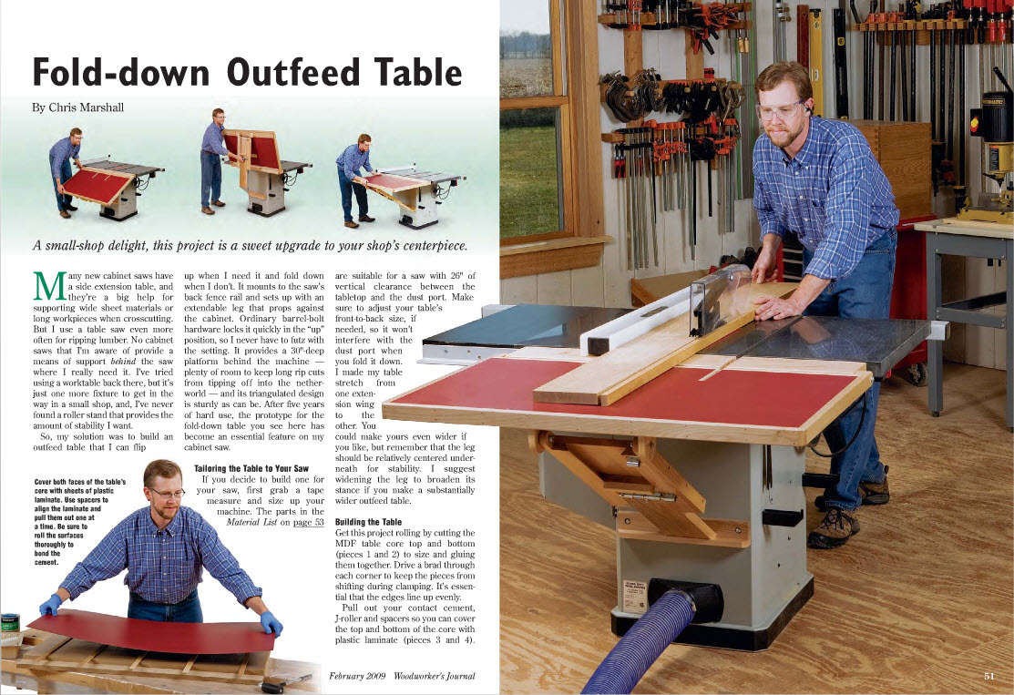 folding outfeed table for the 4511? - ridgid forum