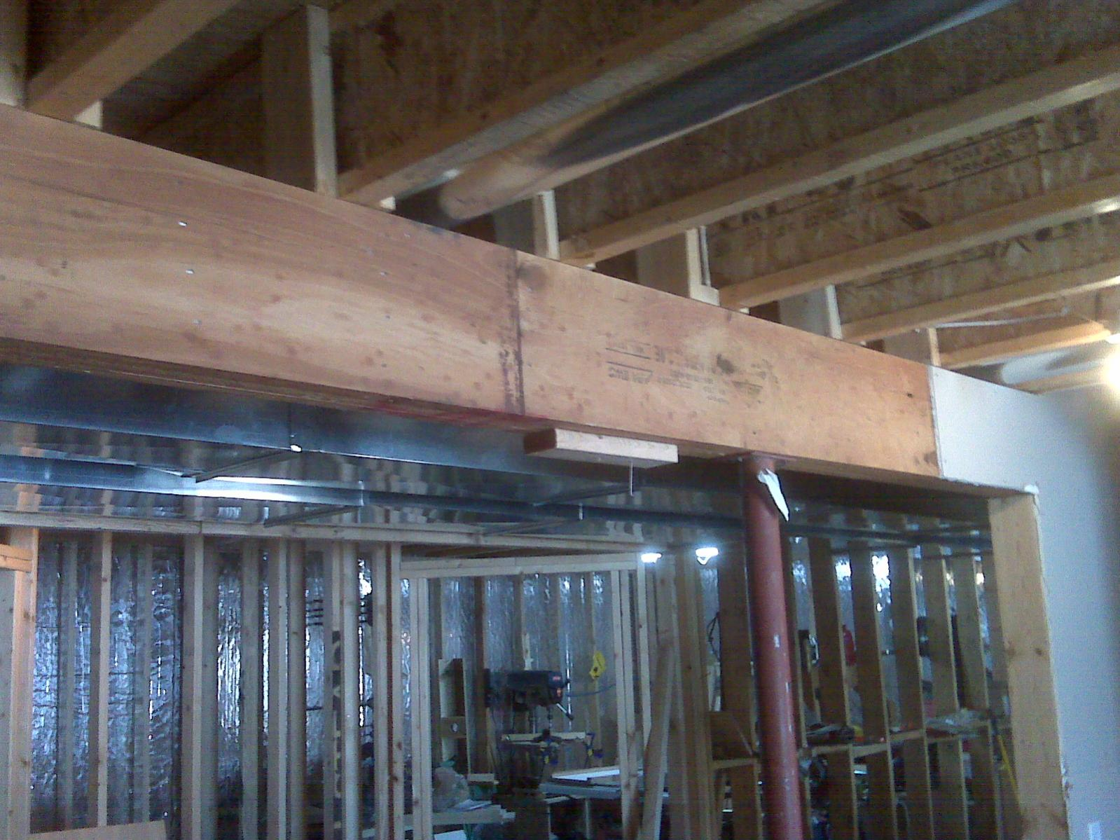Question On Framing Extra Wide Soffit In Basement
