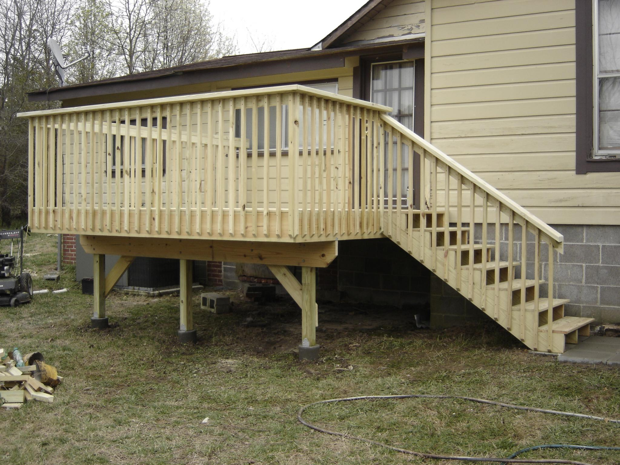 Deck post, in ground or on a pier? - RIDGID Forum | Plumbing
