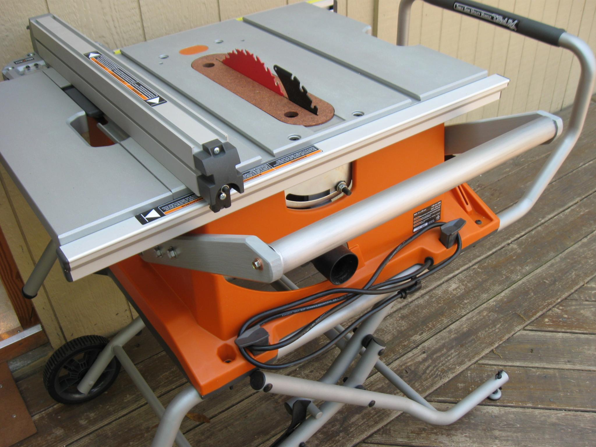 Router table insert for ridgid r4510 choice image wiring table and how to change the blade on a ridgid table saw choice image wiring r4510 jobsite saw greentooth Image collections