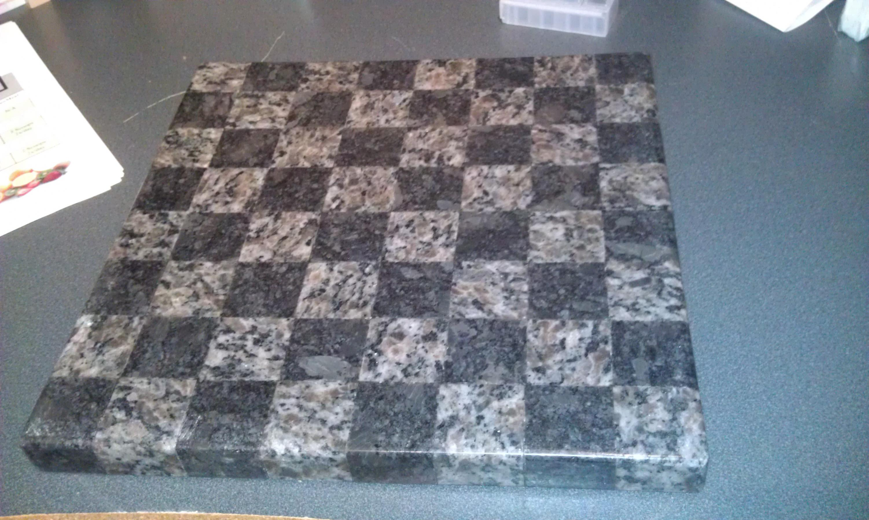 Granite chess board anyone ridgid plumbing woodworking and power tool forum - Granite chess pieces ...
