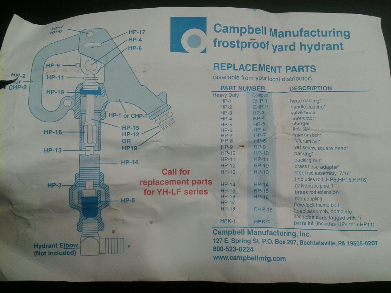 Campbell Yard Hydrant Ridgid Forum Plumbing Woodworking And Power Tools