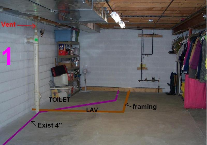 Venting A Toilet In The Basement Images