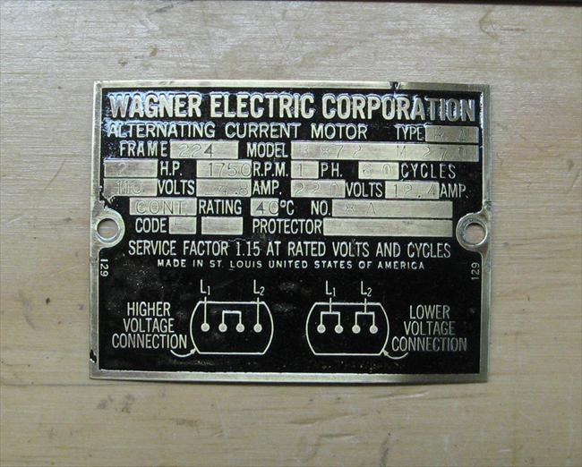 Old Wagner motor - RIDGID Forum | Plumbing, Woodworking and Power ToolsRIDGID Forum